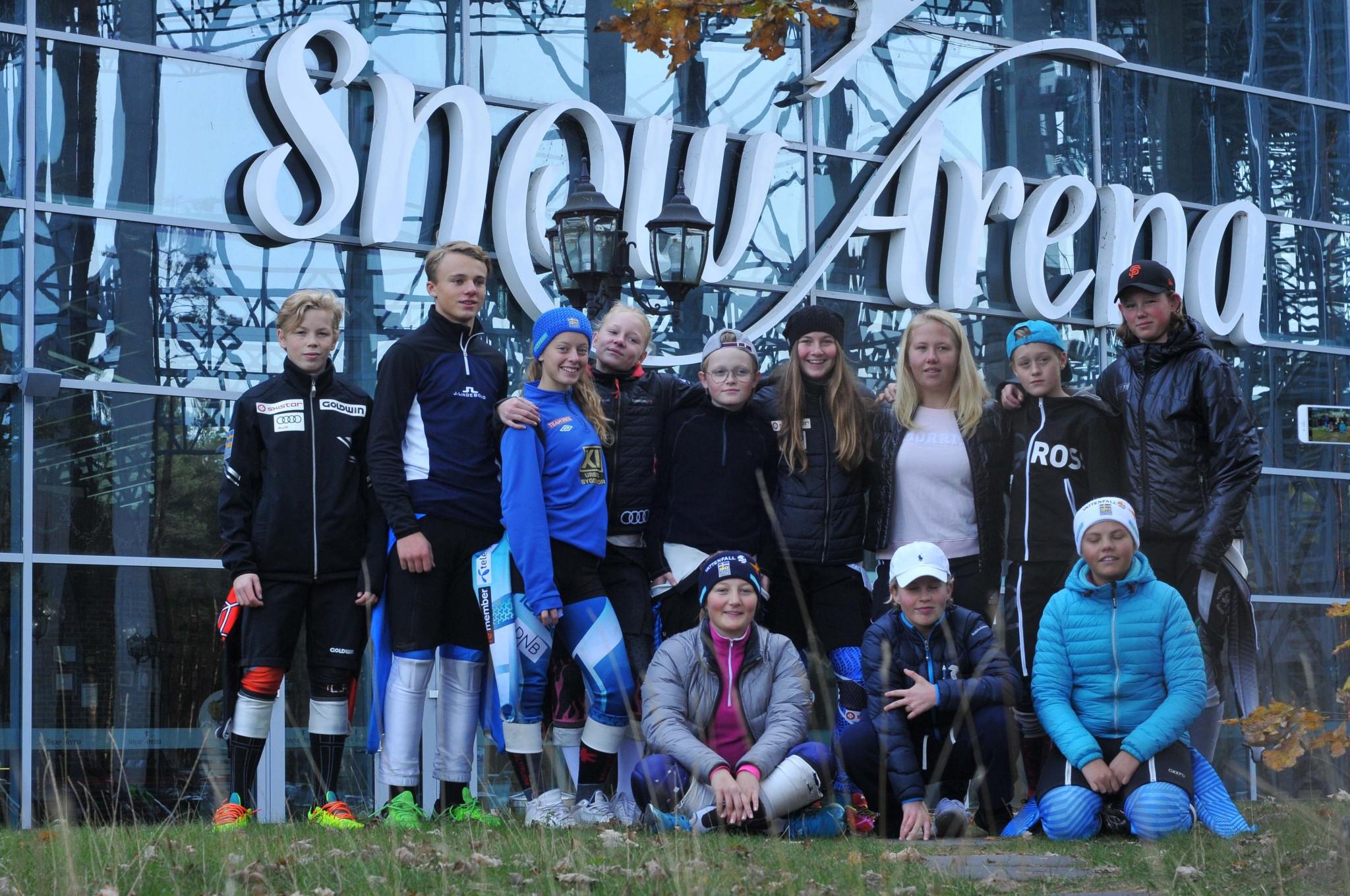Trötta och nöjda, deltagarna på NS4 efter fyra dagar i Snow Arena.