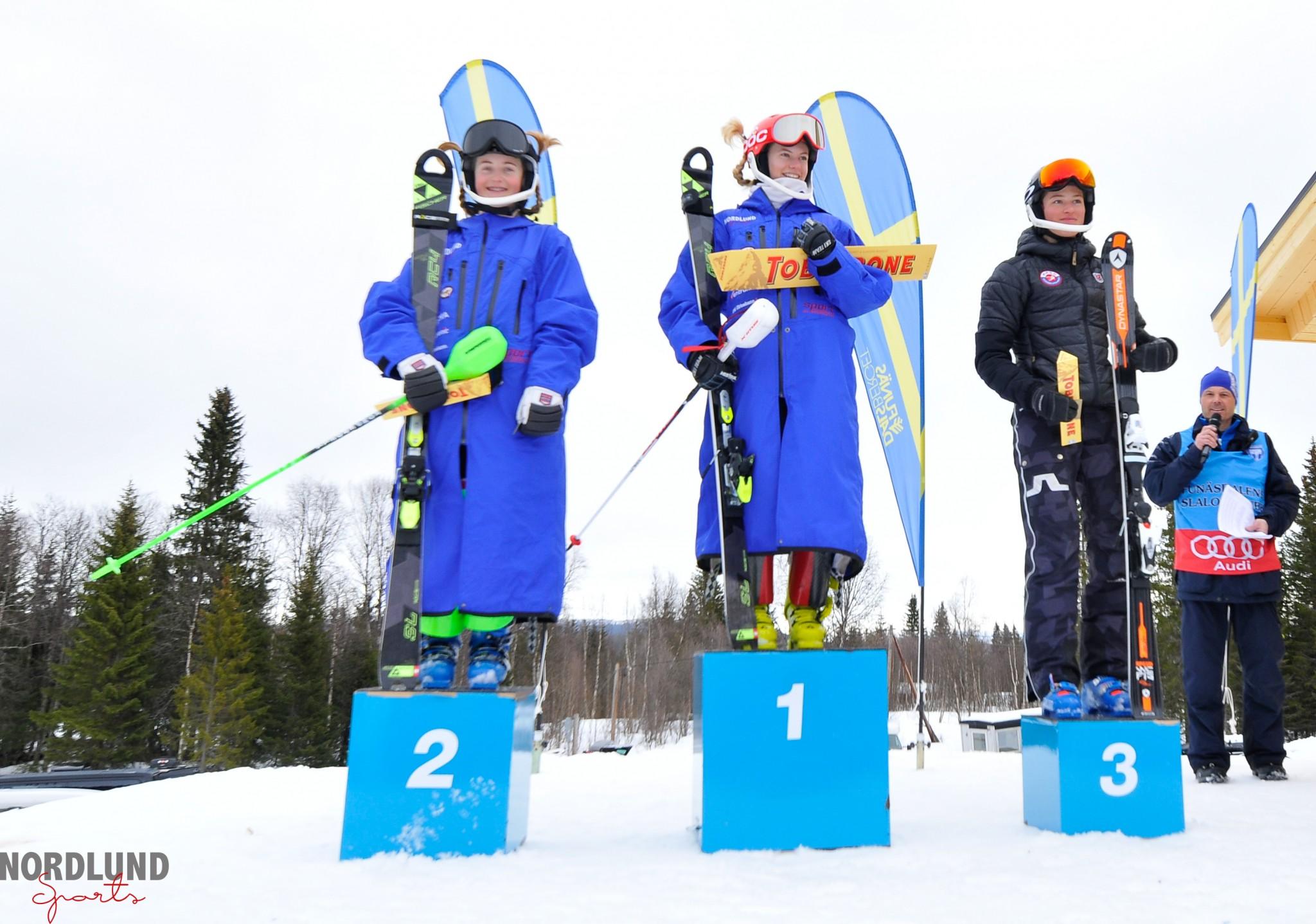 Pallen på slalomtävlingen